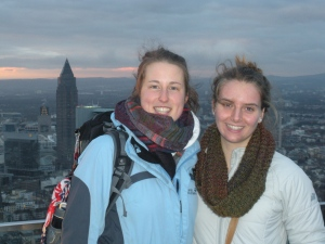 Simone and I on top of the Main tower.