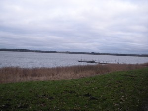 View of the Schlei from in front of the Schloss.