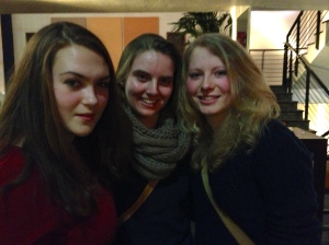 Ricah, me, and Ricah's cousin Mette at the High Five concert